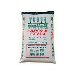 SULFATO DE POTASA SOLUBLE 0-0-50  25 Kg
